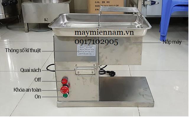 Cấu tạo Máy thái thịt thay dao QX-250
