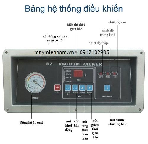 Hệ thống bảng điều khiển máy hút chân không DZ400