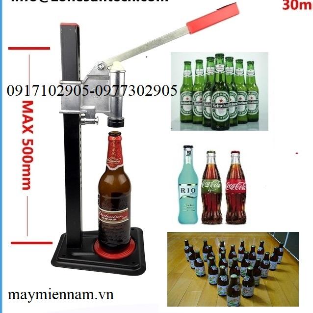 máy dập nút chai bia