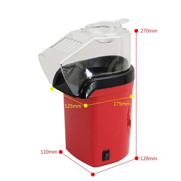 Kích thước chi tiết của máy bắp rang bơ giá rẻ Minijoy