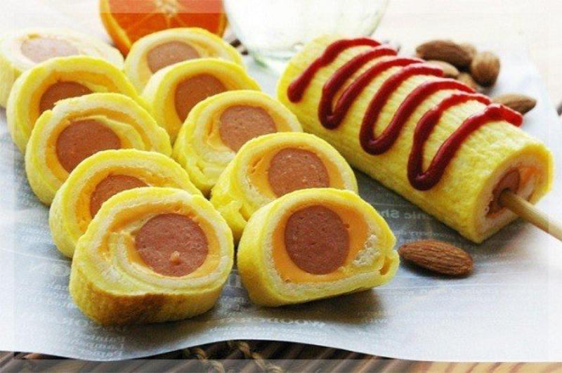 các món ngon từ trứng và xúc xích