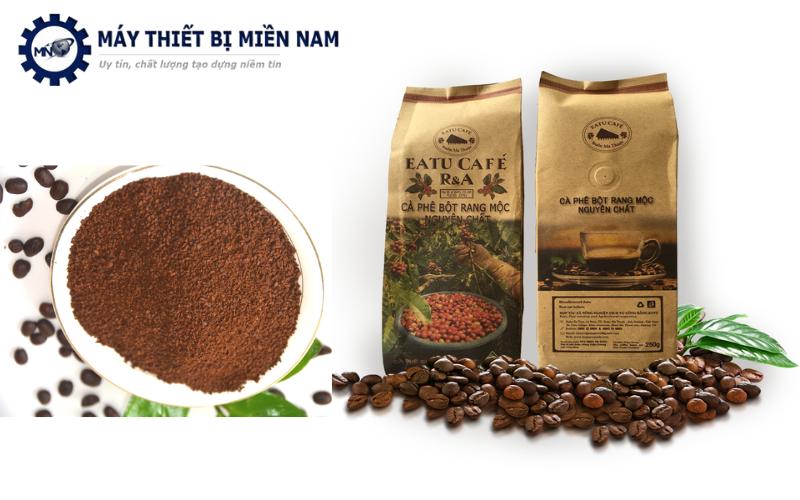 Gói cà phê bột được đóng gói khá cẩn thận và tinh tế
