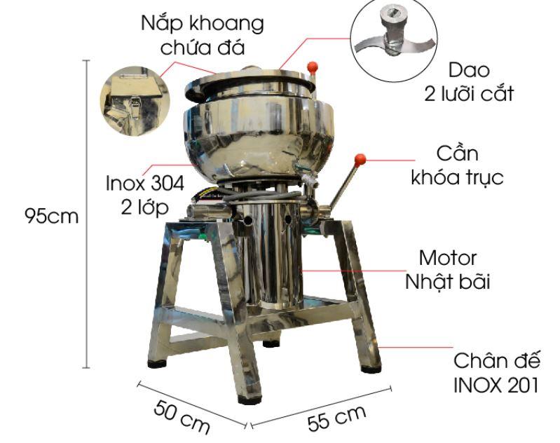 Cấu tạo máy xay giò chả công nghiệp